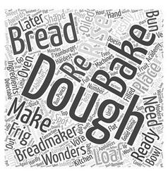 Breadmakers word cloud concept vector