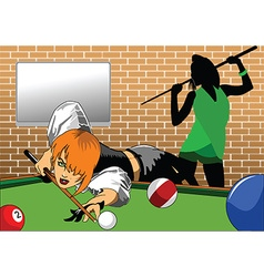 Cartoon snooker vector image vector image