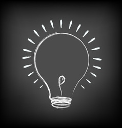 Chalk Light bulb vector image vector image