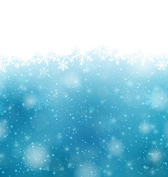 Christmas blue background with snowflakes vector image vector image