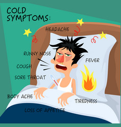 cold symptoms - in flat style vector image vector image