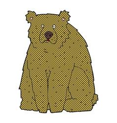 Comic cartoon funny bear vector