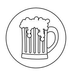 Contour glass beer icon image design vector