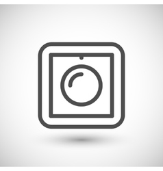 Dimmer line icon vector