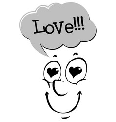 Expression word for love vector