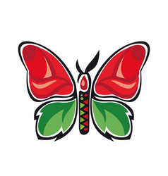 Fantastic butterfly butterfly metamorphosis rose vector