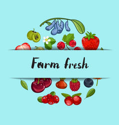 Farm fresh berry banner vector