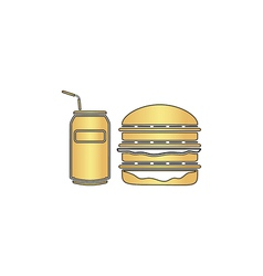 fast food computer symbol vector image