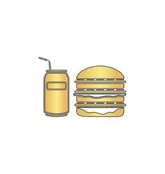 Fast food computer symbol vector
