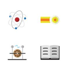 Flat science set of electrical engine orbit vector