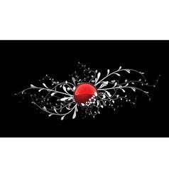 floral button vector image