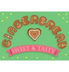 Gingerbread Sweet and Tasty Sweet font vector image vector image