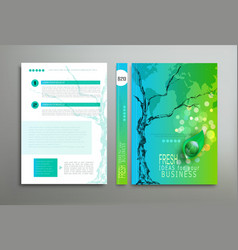 green template cover vector image vector image