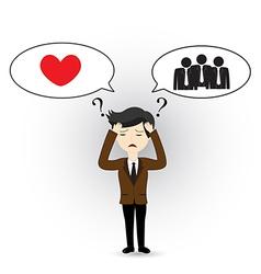 Headache businessman vector image