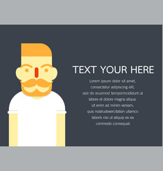 hipster style bearded man character set- design vector image vector image