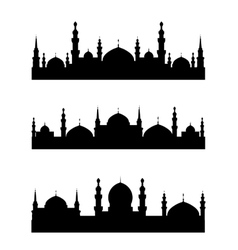Islamic city vector image