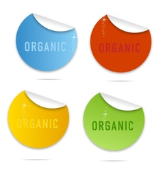 magic eco curl labels sign set vector image vector image