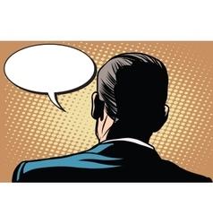 Male back comic bubble conversation communication vector image vector image