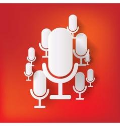 microphone web icon flat design vector image
