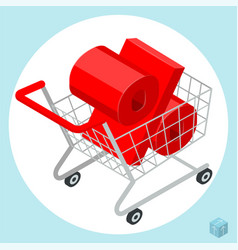 Shopping t cart loaded of percent sign vector