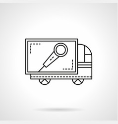 Sound equipment delivery flat line icon vector