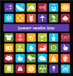 Summer vacation travel summer and vacation vector