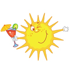 sun with a glass vector image