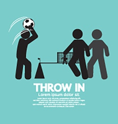 Throw in Soccer Or Football Symbol vector image vector image