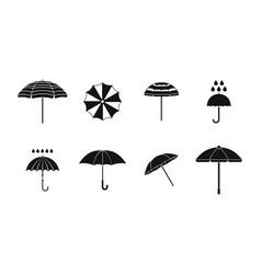 umbrella icon set simple style vector image