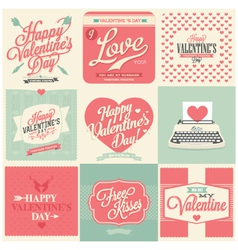 Vintage styled Valentines Day Card vector image