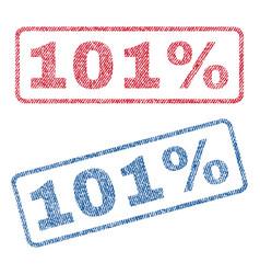 101 percent textile stamps vector