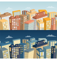 Seamless background with city landscape vector