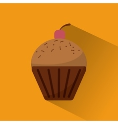 Muffin food bakery design vector