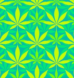 cannabis marijuana leaves seamless pattern vector image