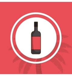 Liquor drink bottle vector