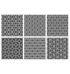 Flourish damask seamless patterns floral vector