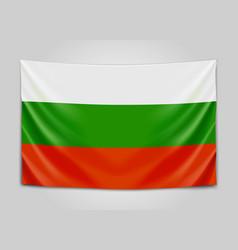 Hanging flag of bulgaria republic of bulgaria vector