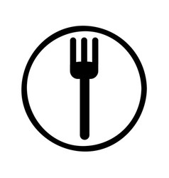 Fork cutlery isolated icon vector