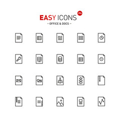 easy icons 20a files vector image