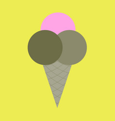 icon in flat design for restaurant ice cream balls vector image