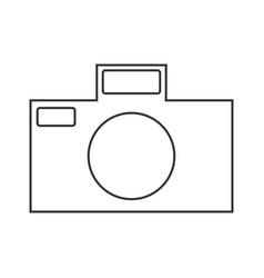 Icon symbol of the flat design of the camera for vector