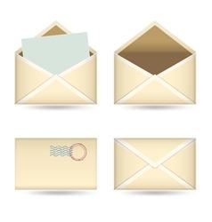 vintage mails set vector image