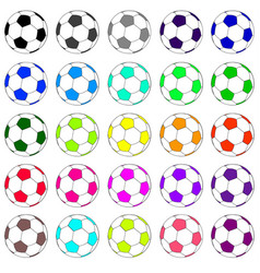 Colorful football set 02 vector