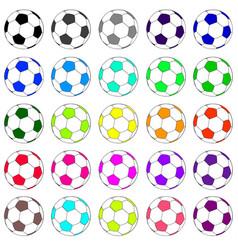 Colorful football set 02 vector