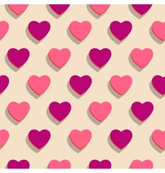 Seamless background heart holiday of love vector