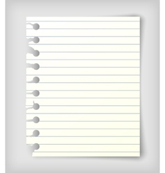 Small note paper sheet vector