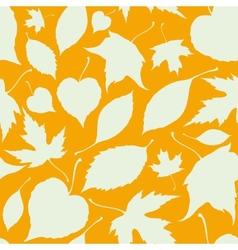 Seamless pattern with falling leaves autumn vector