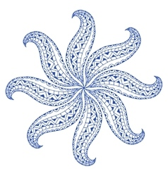 Rosette ornament vector