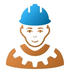 Industrial builder gradient icon vector