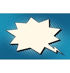 Explosion comics bubble on blue background vector